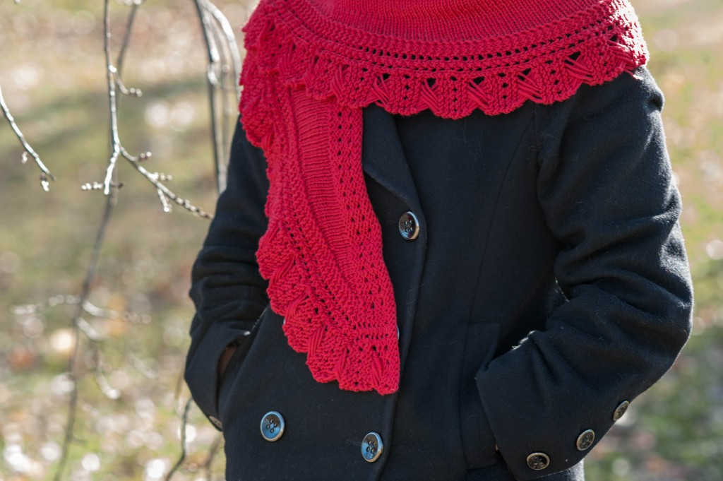 red scarf outside